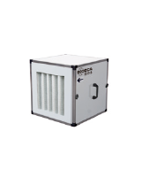 CJBD/ALF-2525-6M 1/5- 2,200m3/h, 230V. Dust control/ventilation unit with pre-lacquered sheet, built-in filters and profiles in aluminium