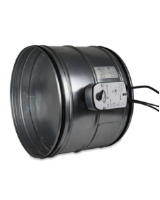 DK-PKIR-E60S-225-DV9-T. 250mm fire damper with 24v actuator and thermal fuse