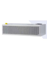 Easyair L2500 P Horizontal, water heated (39.6kW) air curtain for height 3.2m, 2500mm wide