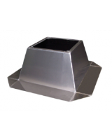 FDS 315 M/LTFSK flat roof socket from seawater resistant aluminium. Supplied ready for assembly with insulation to 100C