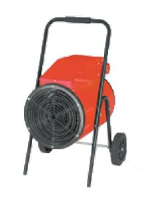 GIS-15R 3-phase  415v 3-phase 15kw industrial fan heater