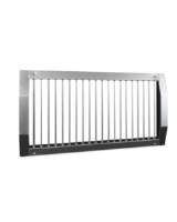 NOVA-C-1-325x225-V-ZN. Single deflection round duct steel grille, unpainted