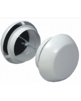 OVE-200 Round transfer air valve, steel, white RAL 9010. The OVE can be used in all types of premises. The outside casing of the air transfer device is acoustically insulated.