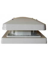 RAW 400/450 Roof Cowl c/w BG.UV stabilised glass reinforced polyester ensures a rigid, lightweight, corrosion-free, weather resistant unit