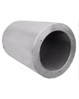 RSA 900/900/100 (F) for use together with of AXC axial fans. 900mm duct, 900mm, long with 100mm insulation. The silencer should be mounted directly before or after the fan