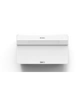 UNICO PRO Inverter 12 HP wall mounted 3.4kW air conditioner with heat pump (3.0kW) and dehumidifier and ventilation facilie