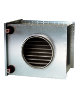 VBC 125-2 Water Heating battery (duct heater) with 2 row heat exchanger and 125mm diameter connections