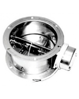 VKM 355-500 Back draft damper with servo motor (230V/50Hz/25W) driven shutter in galvanized steel, and shutter blades in seawater resistant aluminium. Fails closed.