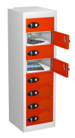 8 Compartment Mobile Phone Charging Locker