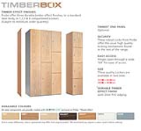 Timber * Faced Lockers - Timberbox