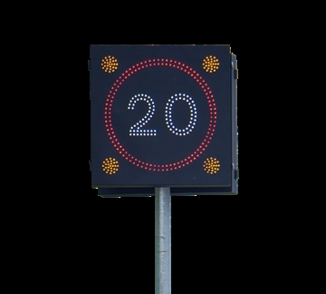 20MPH Urban Vehicle Activated Sign