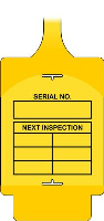 'AssetTag Flex Next Inspection' Tag, Yellow (Pack of 50)