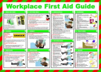 'Workplace First Aid Guide' Sign, Laminated Paper, Safety Poster (590mm x 420mm)