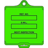 'AssetTag Flex Safe Working Load' Tag, Medium, Green (Pack of 50)