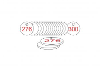 White/Red Traffolite Tags (226 to 300), 27mm