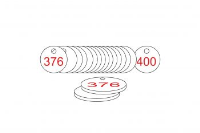 White/Red Traffolite Tags (376 to 400), 27mm