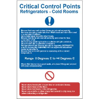 """C.C.P Refrigerators - Cold Rooms"" Sign, Self-Adhesive Semi-Rigid PVC (200mm x 300mm)"