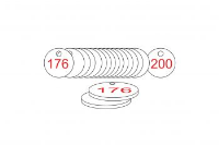 White/Red Traffolite Tags (176 to 200), 27mm