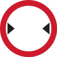 'Width Restriction ' Road Sign, Aluminium Composite with channel (450mm dia.)