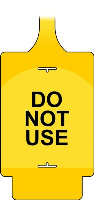 'AssetTag Flex Do Not Use' Tag, Yellow - Style A (Pack of 50)