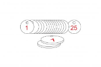 White/Red Traffolite Tags (1 to 25), 27mm