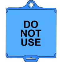 'AssetTag Flex Do Not Use (Style A)' Tag, Medium, Blue (Pack of 50)