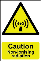 """Caution Non-ionising Radiation"" Sign, Self-Adhesive Semi-Rigid PVC (200mm x 300mm)"