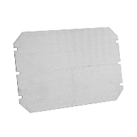 Fibox Mounting Plate for CAB 400mm x 300mm Enclosures Galvanised Steel Plate 370 x 270mm x 1.5mm
