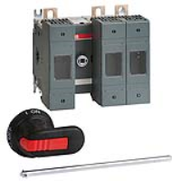 ABB OS 160A 3 Pole Fuse Switch for Base Mounting Switch Mechanism Between 1st and 2nd Pole
