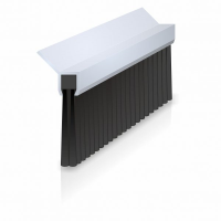 Lath Brushes with 45 degree Aluminium Carrier
