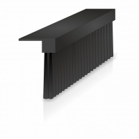 Lath Brushes with 90 degree Plastic Profile