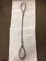 Wire Rope Sling 18 mm Diameter 4.1 T Safe Working Load c/w Soft Eyes Each End