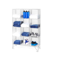 Wire Mesh Locker 12 Compartments 1360H With or Without Doors