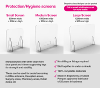 Medium Hygienic Screens Suppliers For Retail Stores