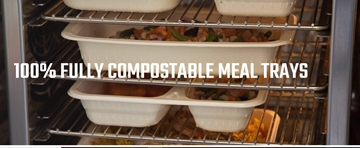 Fully Compostable Meal Trays
