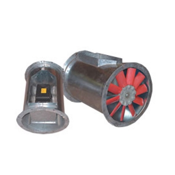 Cylindrical Inline Axial Flow Bifurcated Fans