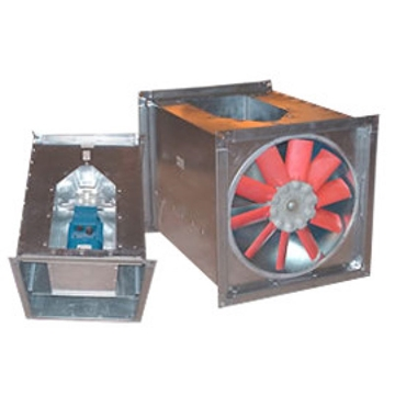 Square Inline Axial Flow Bifurcated Fans