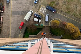 High Level Rope Access Cleaning