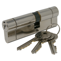Q-Line 1-Star Euro Cylinder (With 6-Pin Protection) - Nickel, A:35 / B:45