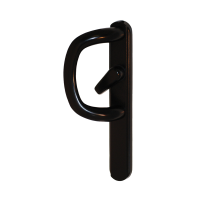 Q-Line P-Handle For Inline Sliding Patio Doors - Black, Pull Only