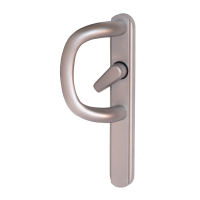 Q-Line P-Handle For Inline Sliding Patio Doors - Satin Chrome, Pull Only
