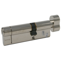 Q-Line Thumbturn Euro Cylinder Lock (6-Pin Protection) - Brass, A:40 / B:50