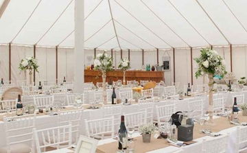 Traditional Rustic Unlined Marquee Suffolk