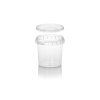 125ml Clear Round Tub with Lid
