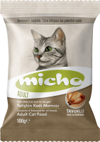 Distributors Of Sample 100GR Micho Adult Cat Chicken (with Anchovies and Rice) Adult Cat Food