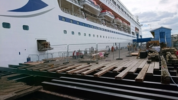 Durable Marine Timber Decking For Marine Works
