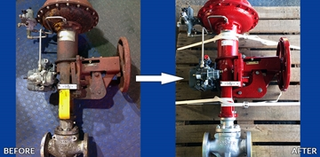20-Inch Control Valves Overhauling Services