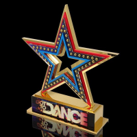 Gold Plated Got to Dance Trophy