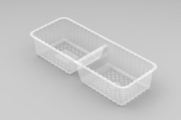 2 Cavity Long Biscuit Tray