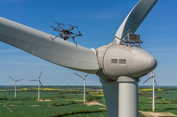 Drone Surveying For Wind Turbines Monitoring